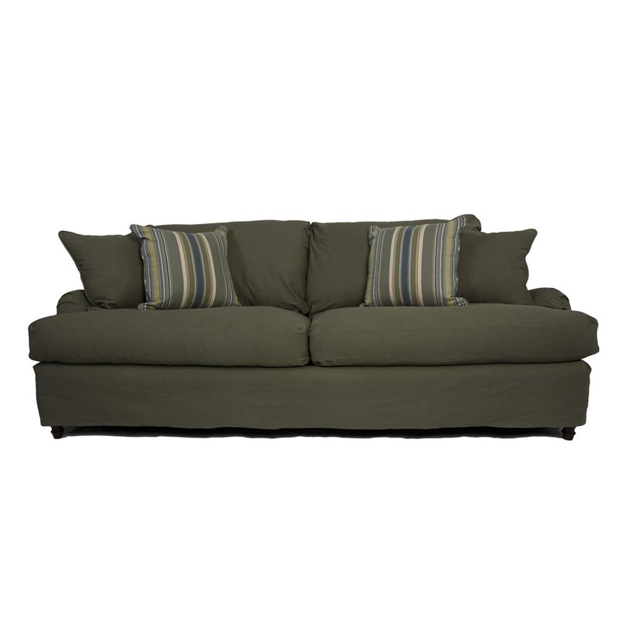 Sunset Trading Seacoast Casual Forest Green Sofa