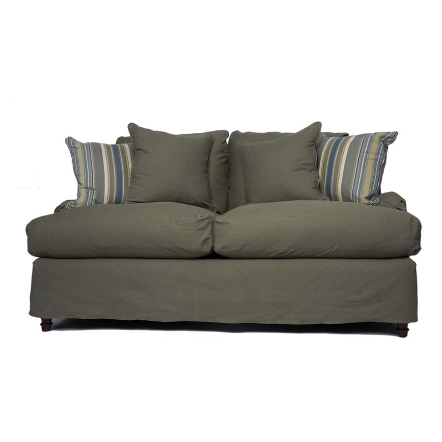Sunset Trading Seacoast Casual Forest Green Loveseat