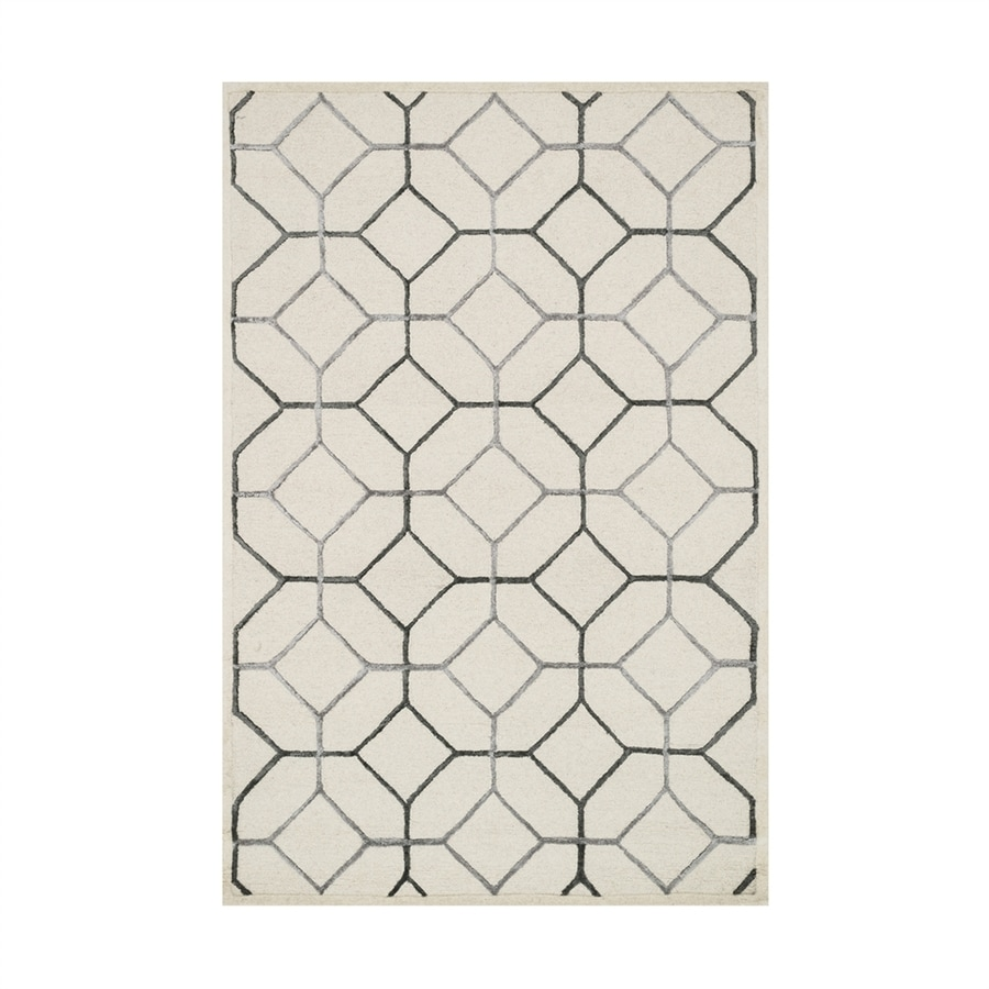 Loloi Panache Ivory/grey Rectangular Indoor Handcrafted Area Rug (Common: 9 X 13; Actual: 9.25-ft W x 13-ft L)