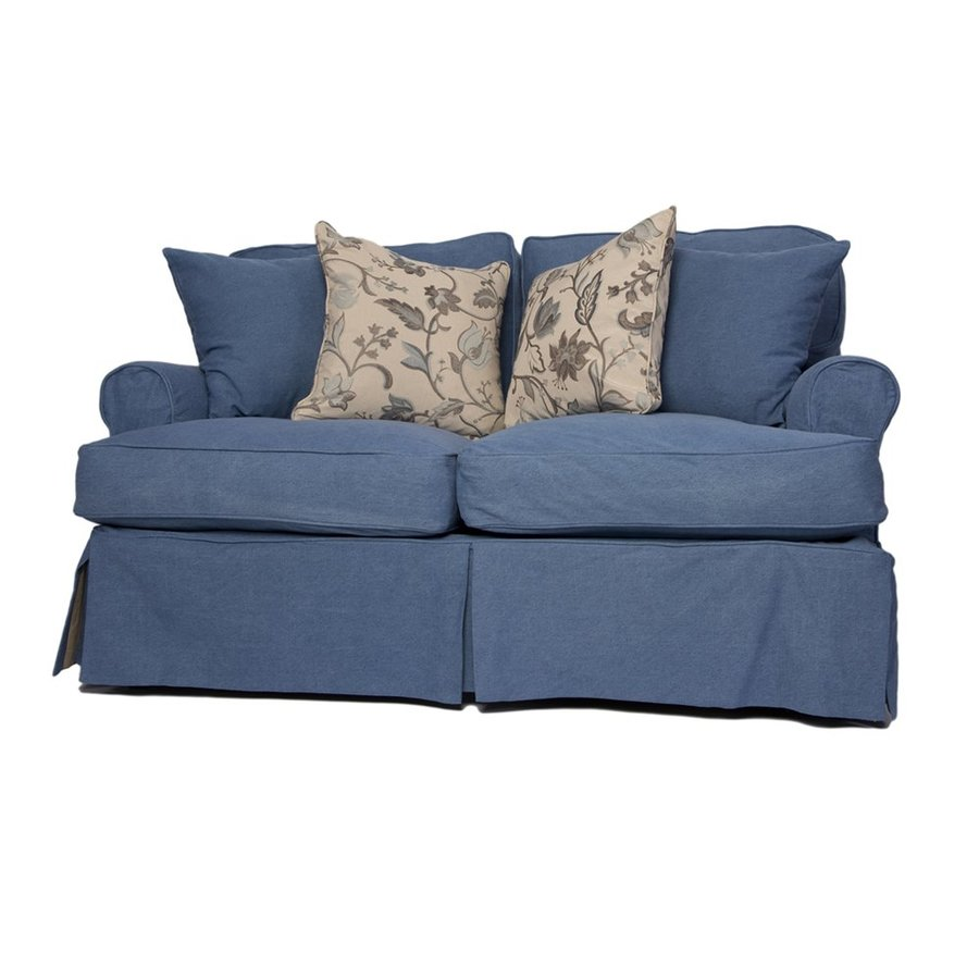 Sunset Trading Horizon Casual Indigo Blue Loveseat