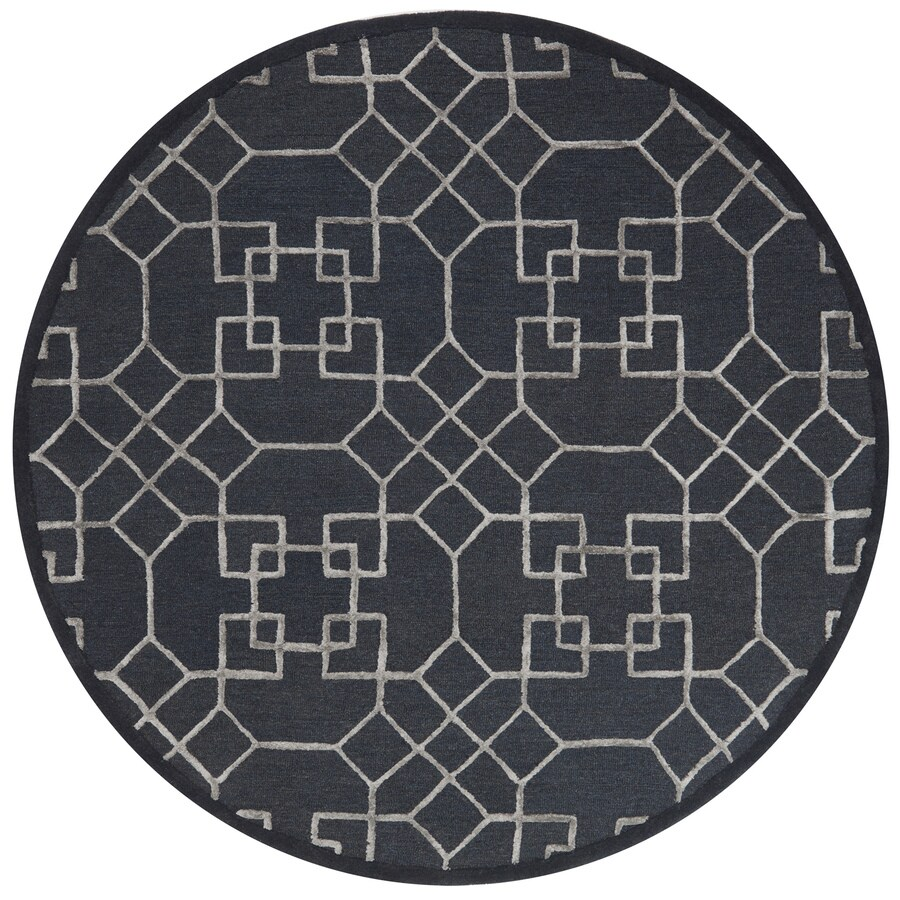 Loloi Panache Charcoal/silver Round Indoor Handcrafted Area Rug (Common:; Actual: W x L x 7.5-ft dia)