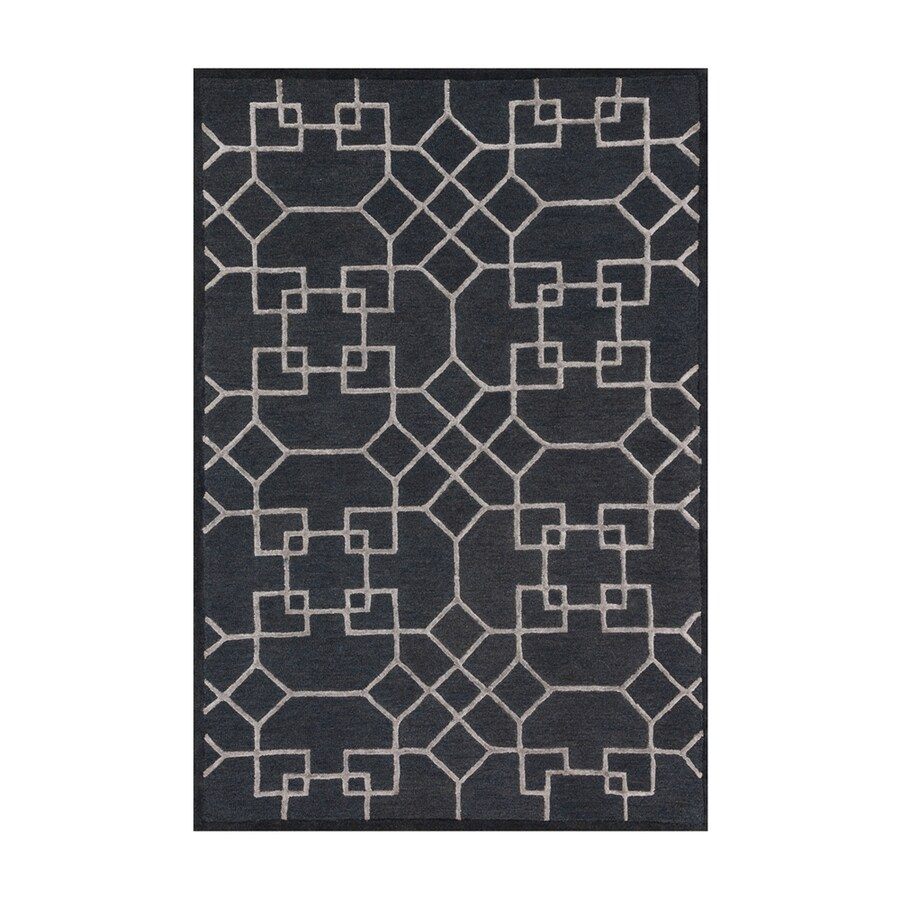 Loloi Panache Charcoal/silver Rectangular Indoor Handcrafted Area Rug (Common: 7 X 9; Actual: 7.5-ft W x 9.5-ft L)