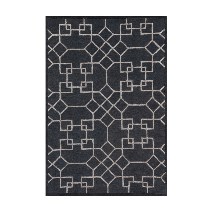 Loloi Panache Charcoal/silver Rectangular Indoor Handcrafted Area Rug (Common: 9 X 13; Actual: 9.25-ft W x 13-ft L)