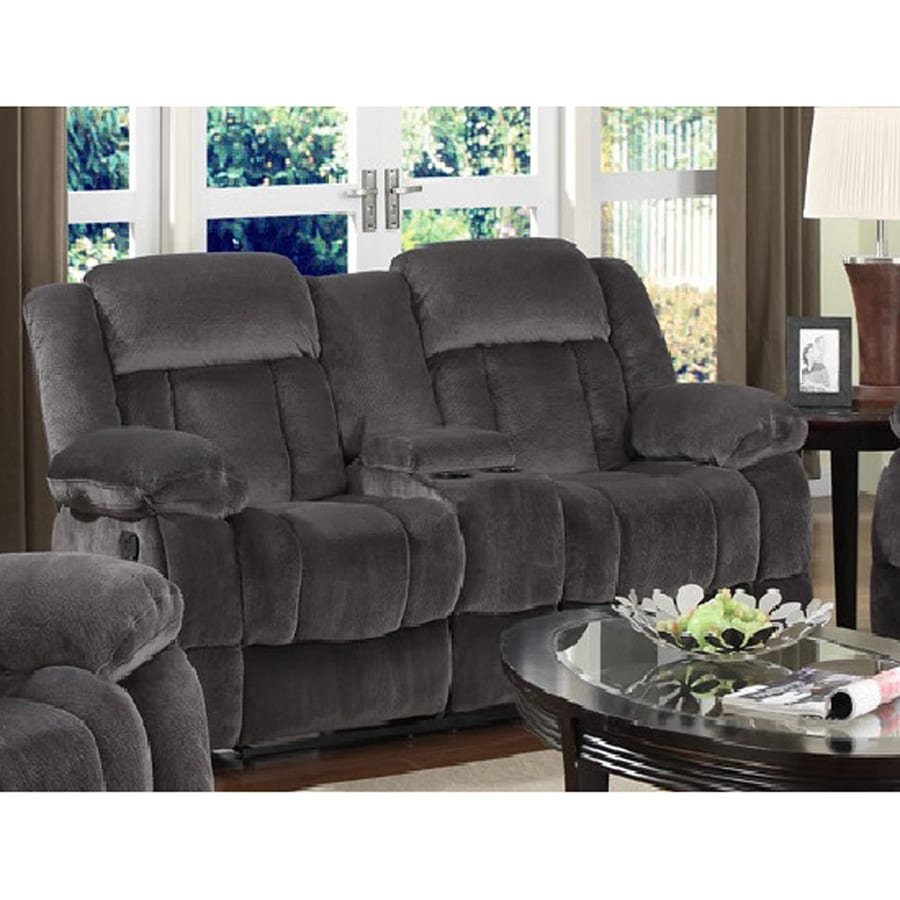 Sunset Trading Madison Casual Charcoal Blue/Gray Reclining Loveseat