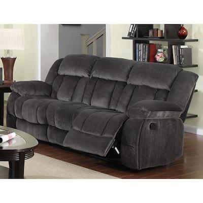 Madison Casual Charcoal Blue/Gray Reclining Sofa