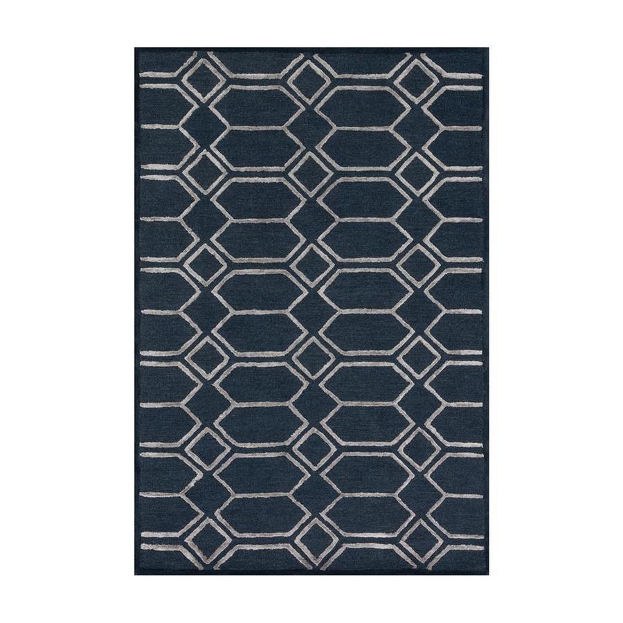 Loloi Panache Indigo/silver Rectangular Indoor Handcrafted Area Rug (Common: 3 X 5; Actual: 3.5-ft W x 5.5-ft L)
