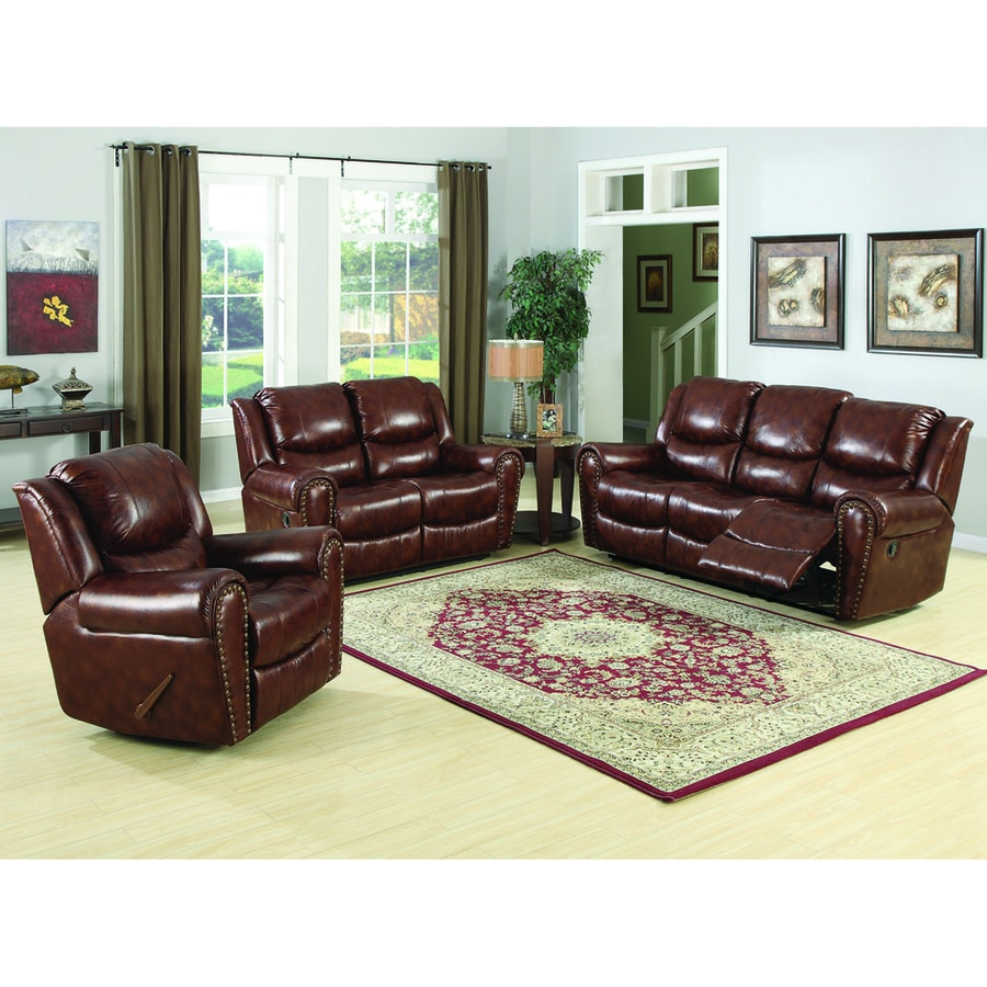 Sunset Trading 3-Piece Oxford Brown Living Room Set