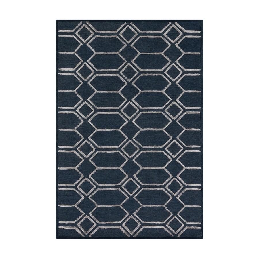 Loloi Panache Indigo/silver Rectangular Indoor Handcrafted Area Rug (Common: 7 X 9; Actual: 7.5-ft W x 9.5-ft L)