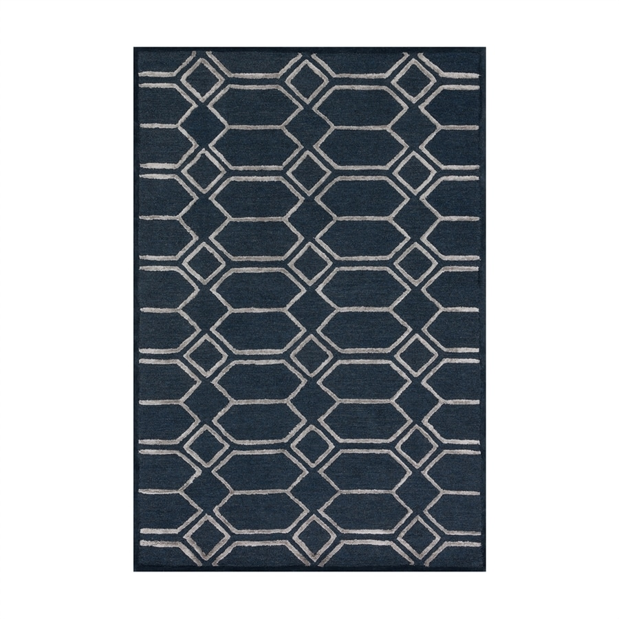 Loloi Panache Indigo/silver Rectangular Indoor Handcrafted Area Rug (Common: 9 X 13; Actual: 9.25-ft W x 13-ft L)