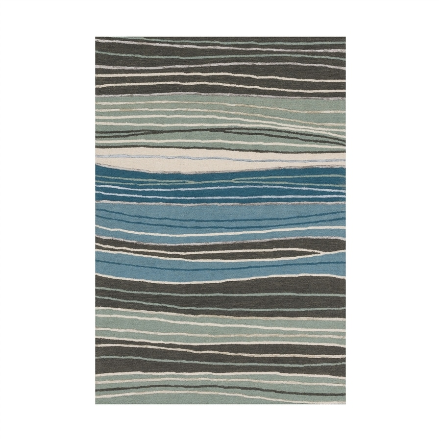 Loloi Panache Grey/blue Rectangular Indoor Handcrafted Area Rug (Common: 3 X 5; Actual: 3.5-ft W x 5.5-ft L)