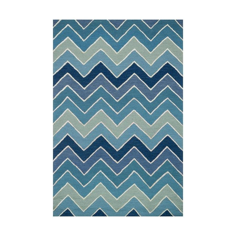 Loloi Panache Blue Rectangular Indoor Handcrafted Coastal Area Rug (Common: 2 X 4; Actual: 2.25-ft W x 3.75-ft L)