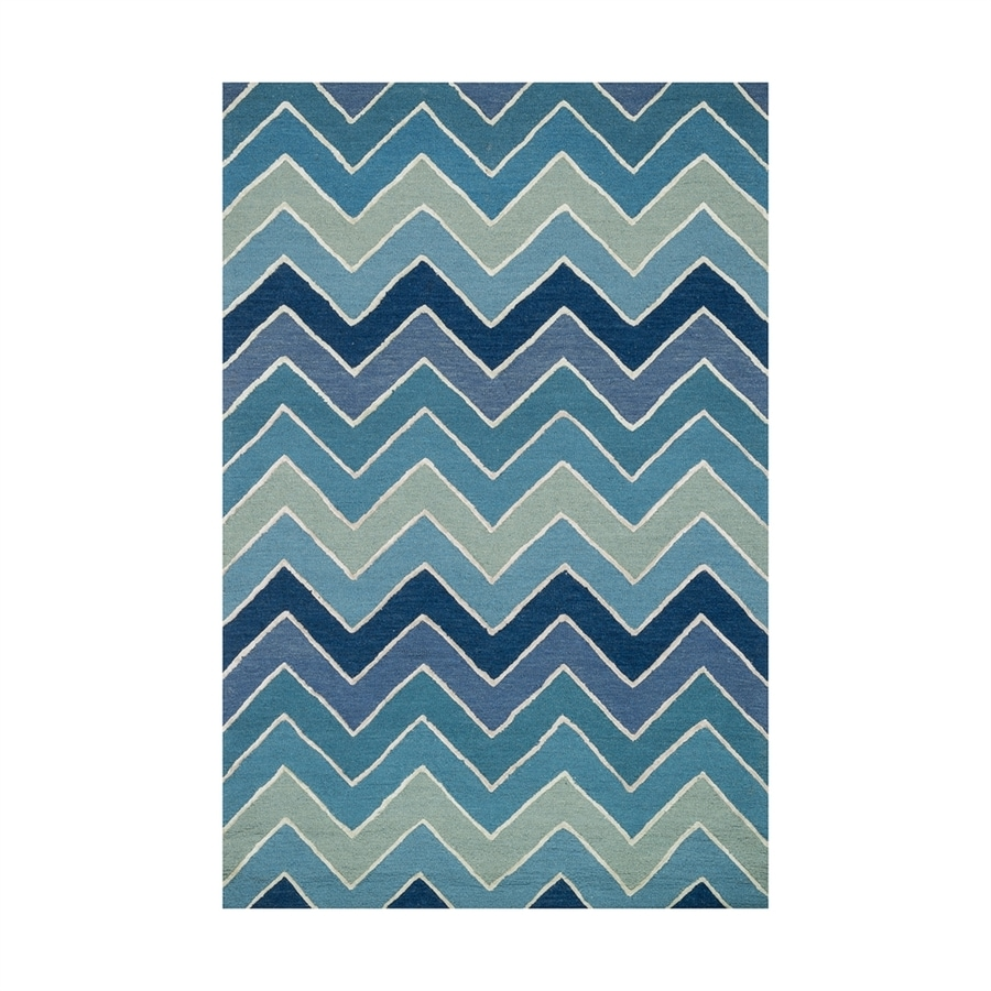 Loloi Panache Blue Rectangular Indoor Handcrafted Coastal Area Rug (Common: 5 X 8; Actual: 5-ft W x 7.5-ft L)