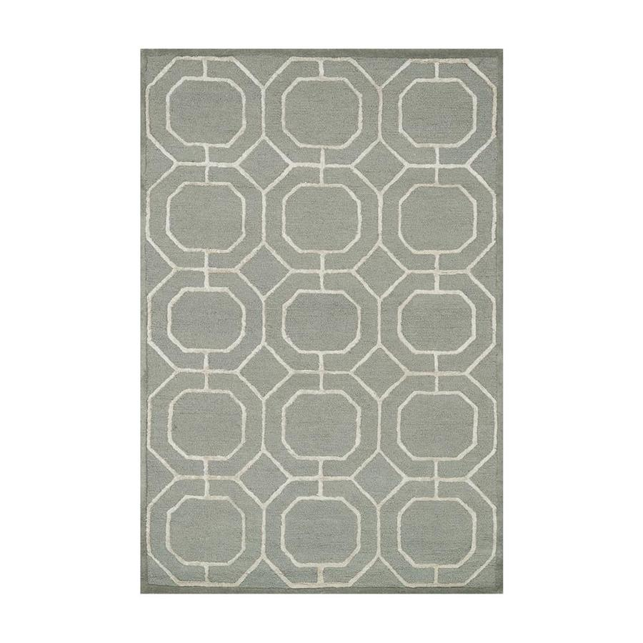 Loloi Panache Sage/ivory Rectangular Indoor Handcrafted Area Rug (Common: 4 X 6; Actual: 3.5-ft W x 5.5-ft L)