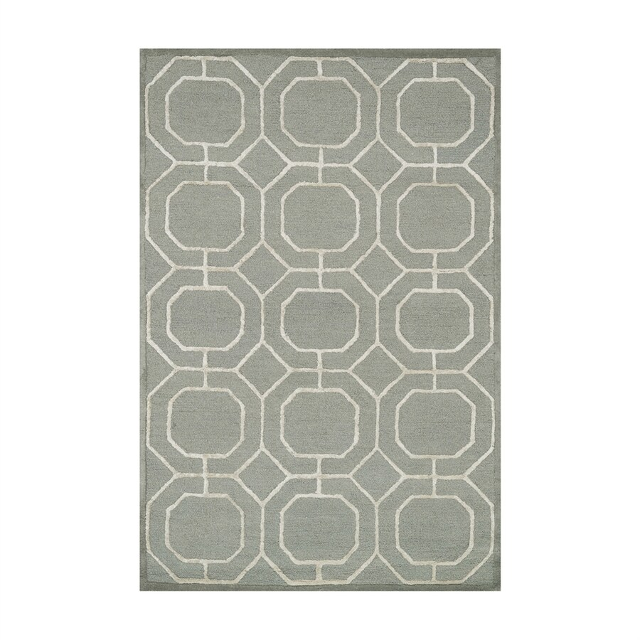 Loloi Panache Sage/ivory Rectangular Indoor Handcrafted Area Rug (Common: 5 X 8; Actual: 5-ft W x 7.5-ft L)