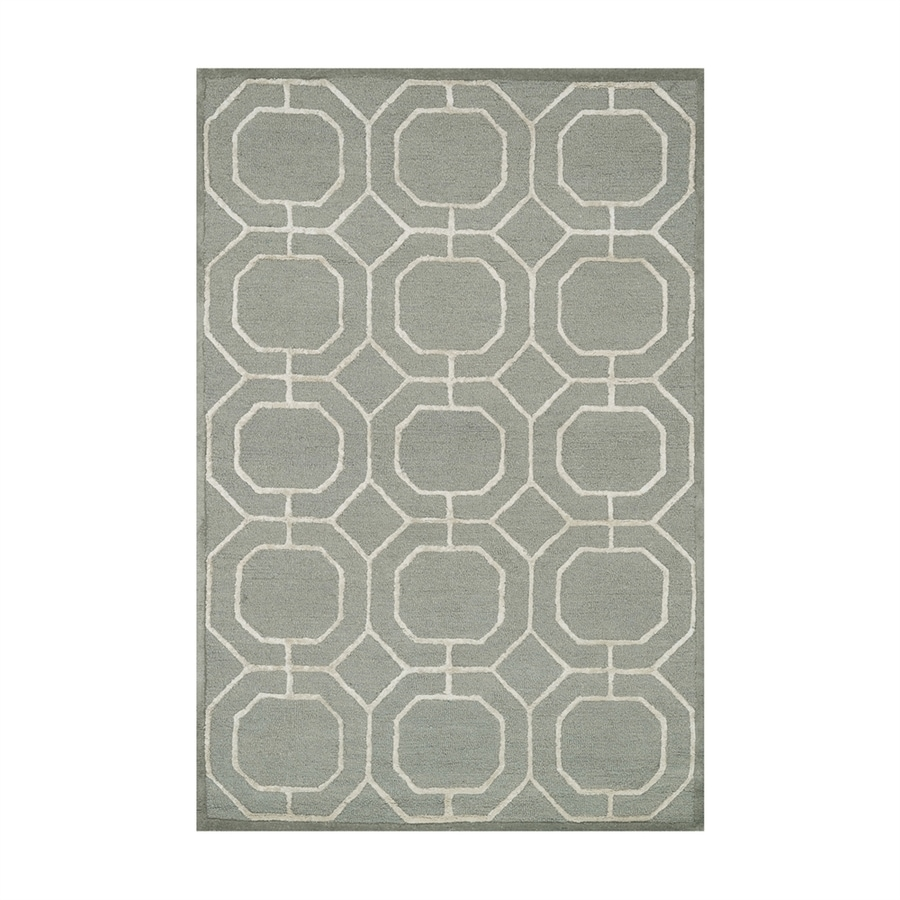 Loloi Panache Sage/ivory Rectangular Indoor Handcrafted Area Rug (Common: 8 X 10; Actual: 7.5-ft W x 9.5-ft L)