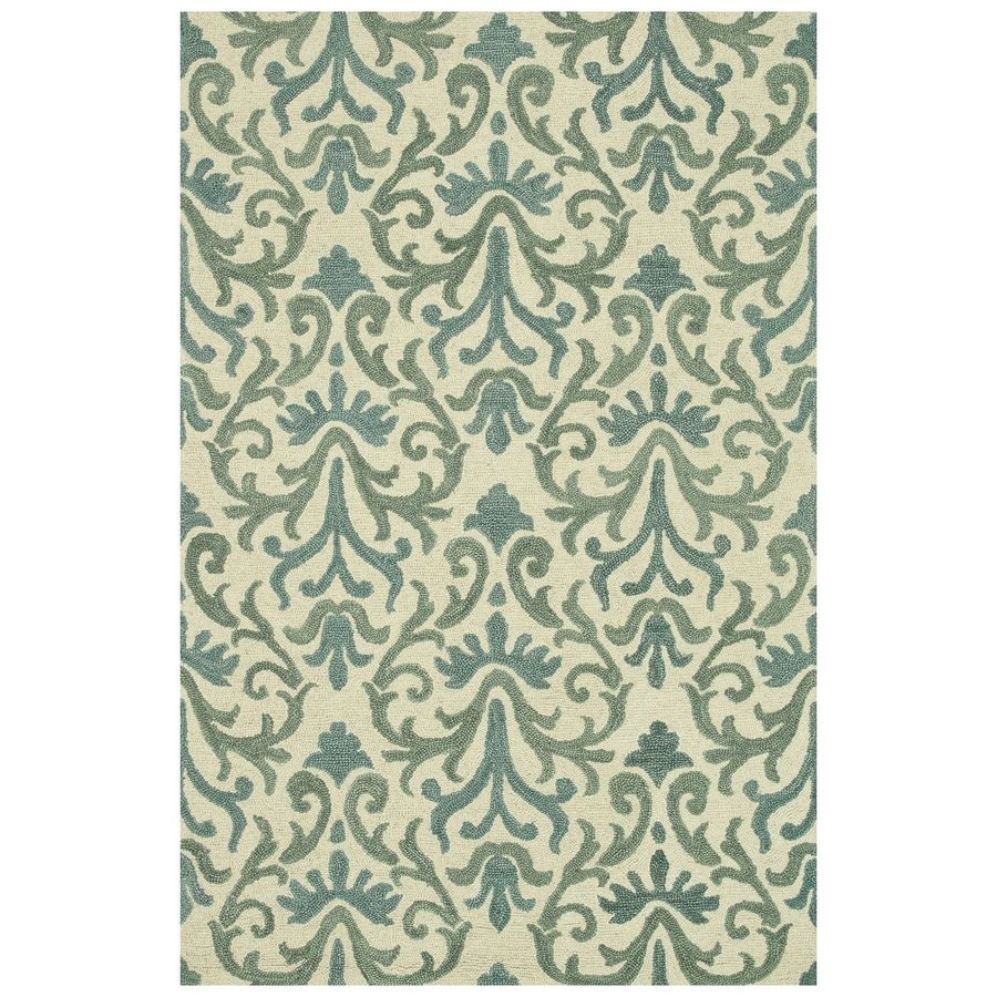 Loloi Taylor Light blue Rectangular Indoor Handcrafted Area Rug (Common: 4 X 6; Actual: 3.5-ft W x 5.5-ft L)