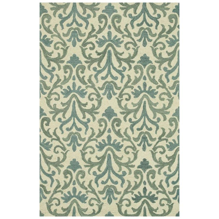 Loloi Taylor Light blue Rectangular Indoor Handcrafted Area Rug (Common: 5 X 8; Actual: 5-ft W x 7.5-ft L)