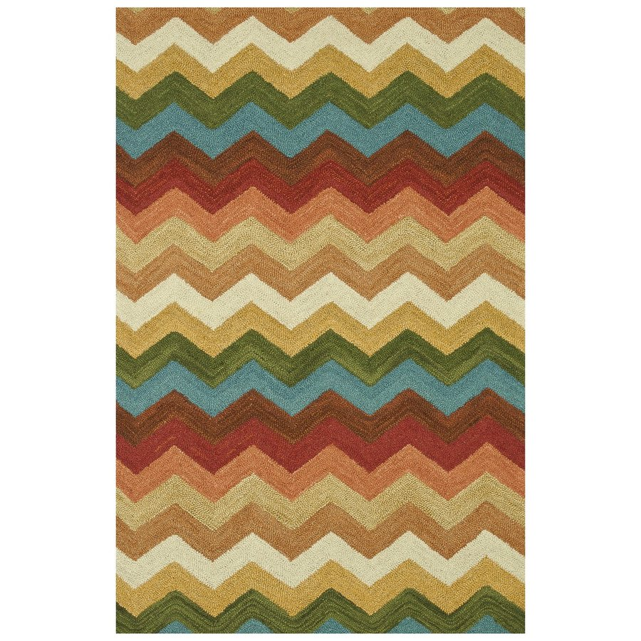Loloi Taylor Sunset Rectangular Indoor Handcrafted Southwestern Area Rug (Common: 5 X 8; Actual: 5-ft W x 7.5-ft L)