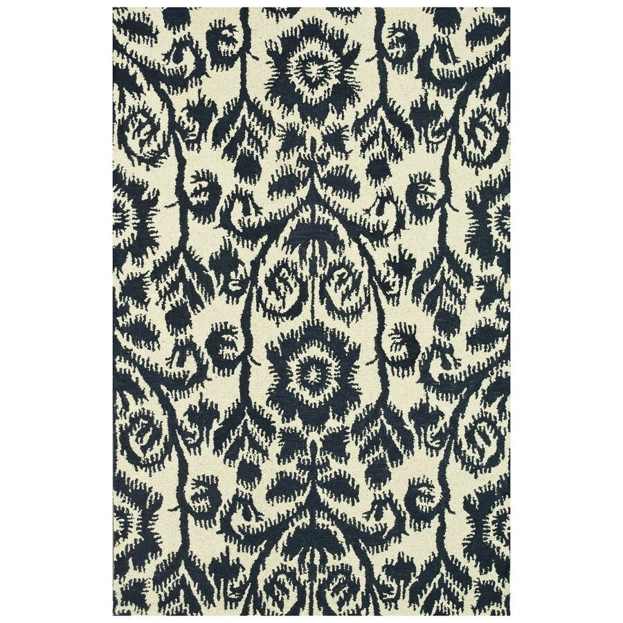 Loloi Taylor Navy Rectangular Indoor Handcrafted Area Rug (Common: 5 X 8; Actual: 5-ft W x 7.5-ft L)