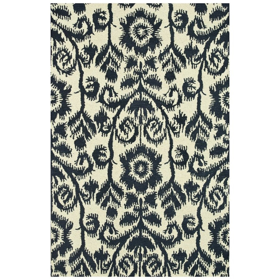 Loloi Taylor Navy Rectangular Indoor Handcrafted Area Rug (Common: 8 X 11; Actual: 7.83-ft W x 11-ft L)