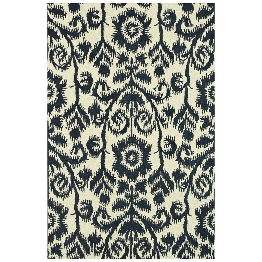 Loloi Taylor Navy Rectangular Indoor Handcrafted Area Rug (Common: 9 X 13; Actual: 9.25-ft W x 13-ft L)