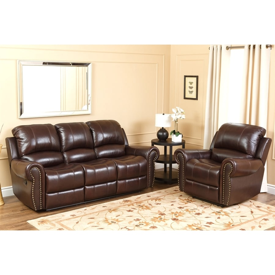 Pacific Loft 2-Piece Hogan Burgundy Living Room Set