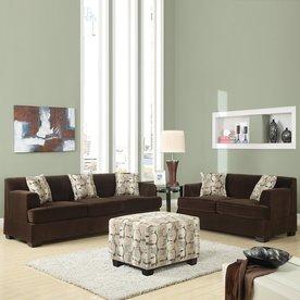 chocolate living room set. Poundex 2 Piece Banford Chocolate Living Room Set Shop Sets at Lowes com