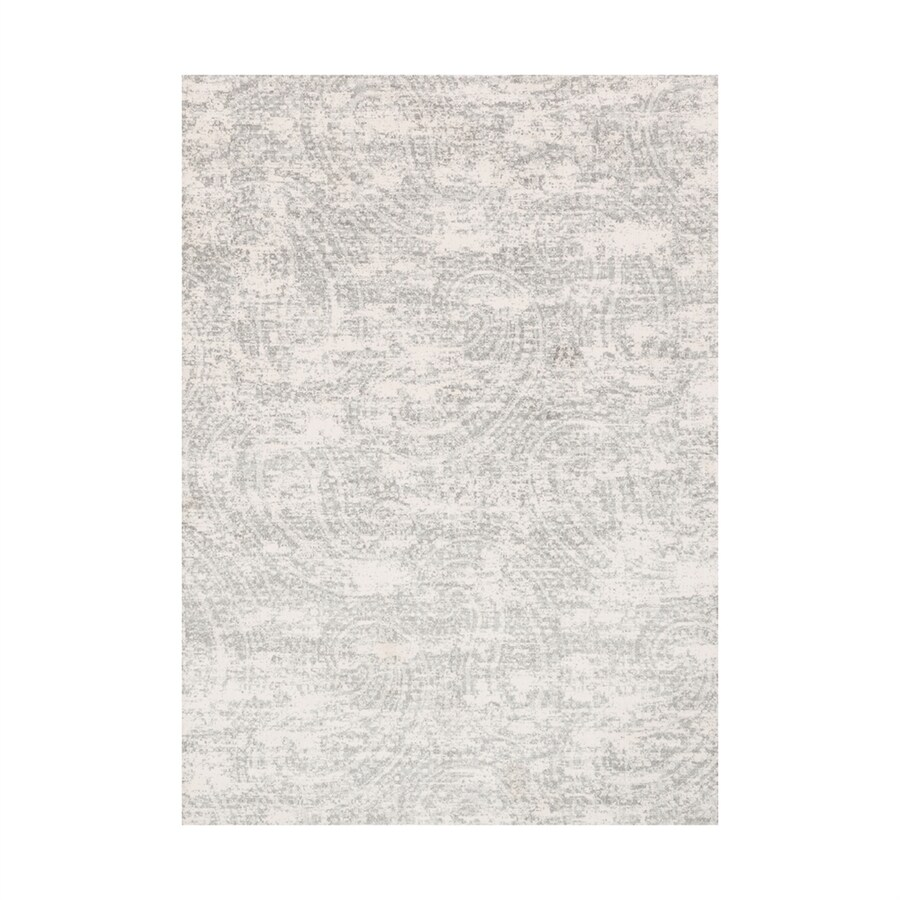 Loloi Torrance Grey Rectangular Indoor Machine-made Distressed Area Rug (Common: 8 X 11; Actual: 7.83-ft W x 10.83-ft L)
