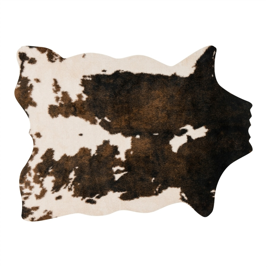 Loloi Grand Canyon Beige/brown Irregular Indoor Machine-made Lodge Area Rug (Common: 5 X 6; Actual: 5-ft W x 6.5-ft L)