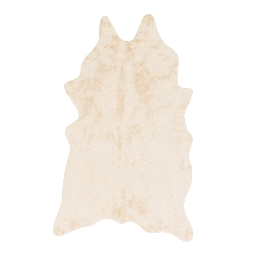 Loloi Grand Canyon Ivory Irregular Indoor Machine-made Lodge Area Rug (Common: 4 X 5; Actual: 3.83-ft W x 5-ft L)