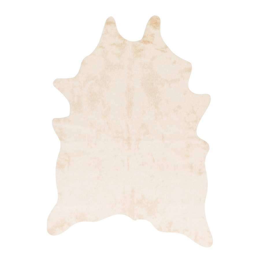 Loloi Grand Canyon Ivory Irregular Indoor Machine-made Lodge Area Rug (Common: 5 X 6; Actual: 5-ft W x 6.5-ft L)