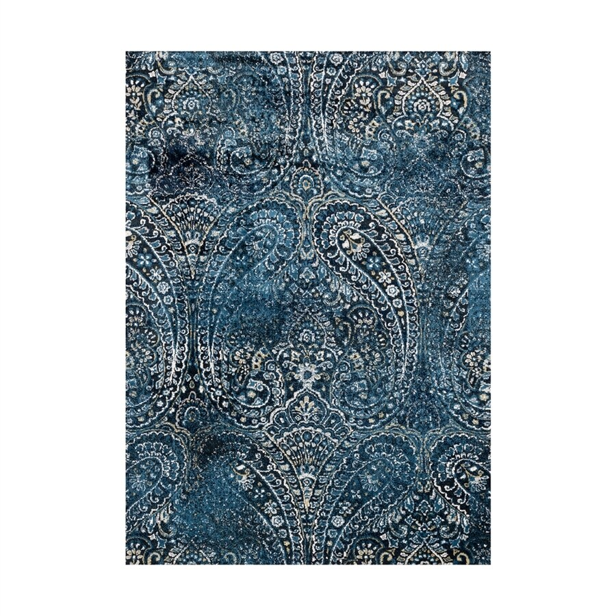 Loloi Torrance Navy Rectangular Indoor Machine-made Distressed Area Rug (Common: 7 X 9; Actual: 6.58-ft W x 9.16-ft L)