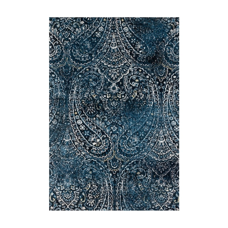Loloi Torrance Navy Rectangular Indoor Machine-made Distressed Area Rug (Common: 8 X 11; Actual: 7.83-ft W x 10.83-ft L)