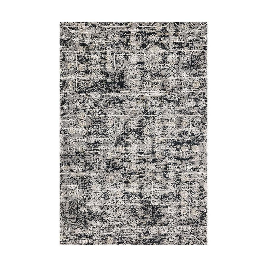 Loloi Torrance Grey/ink Rectangular Indoor Machine-made Distressed Area Rug (Common: 4 X 6; Actual: 3.75-ft W x 5.75-ft L)