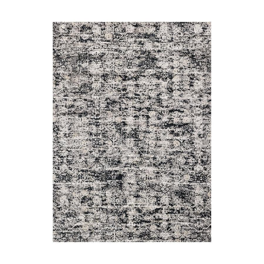 Loloi Torrance Grey/ink Rectangular Indoor Machine-made Distressed Area Rug (Common: 7 X 9; Actual: 6.58-ft W x 9.16-ft L)