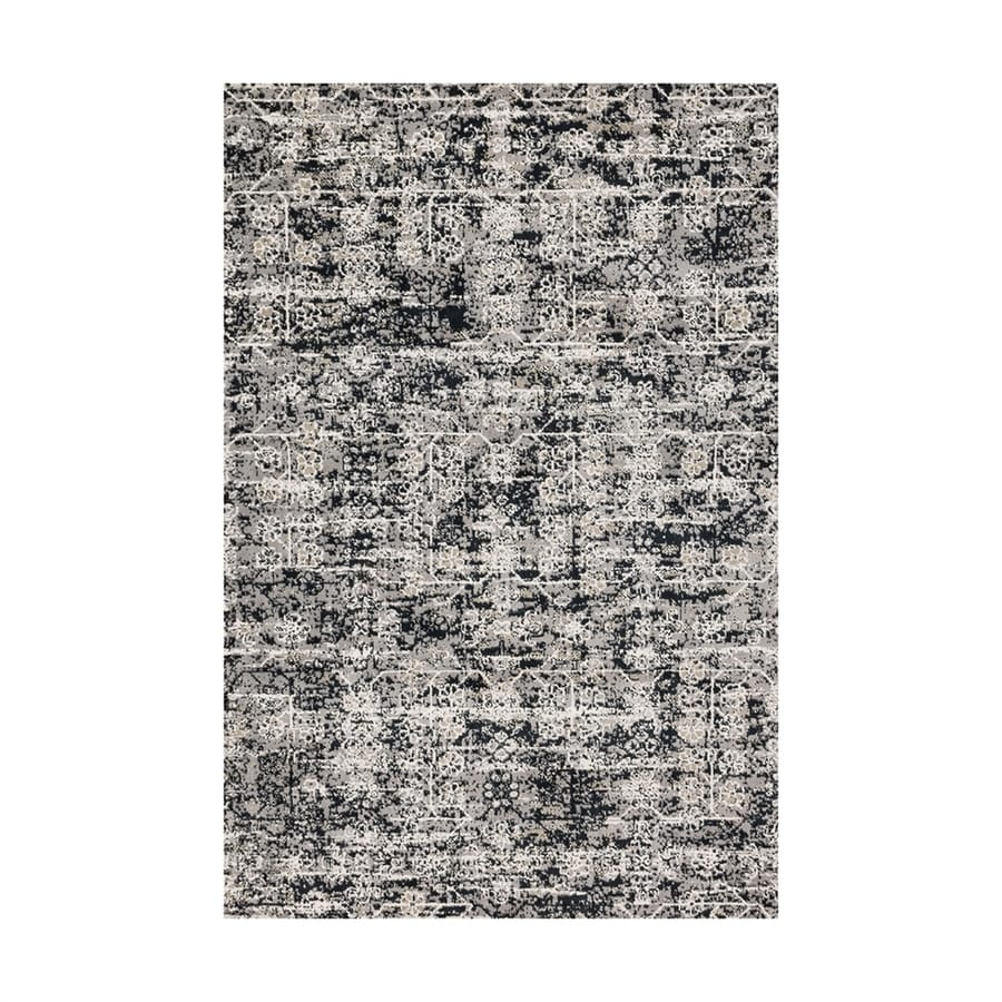 Loloi Torrance Grey/ink Rectangular Indoor Machine-made Distressed Area Rug (Common: 8 X 11; Actual: 7.83-ft W x 10.83-ft L)