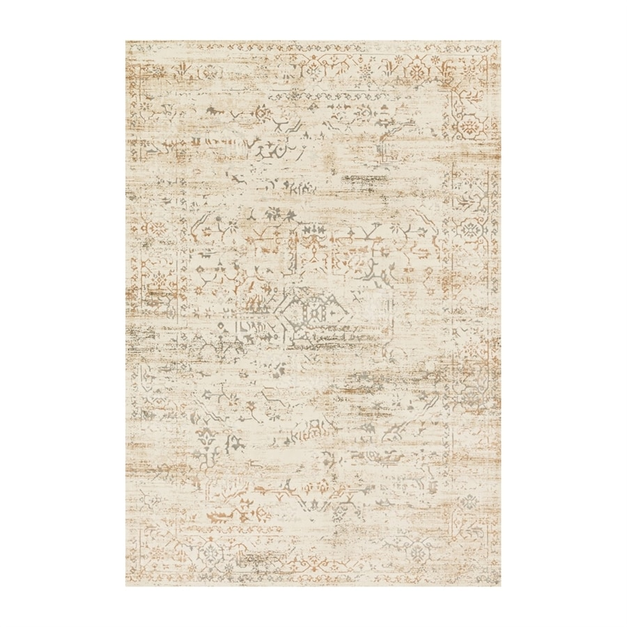 Loloi Kingston Cream Rectangular Indoor Machine-made Distressed Runner (Common: 2 X 10; Actual: 2.58-ft W x 10-ft L)