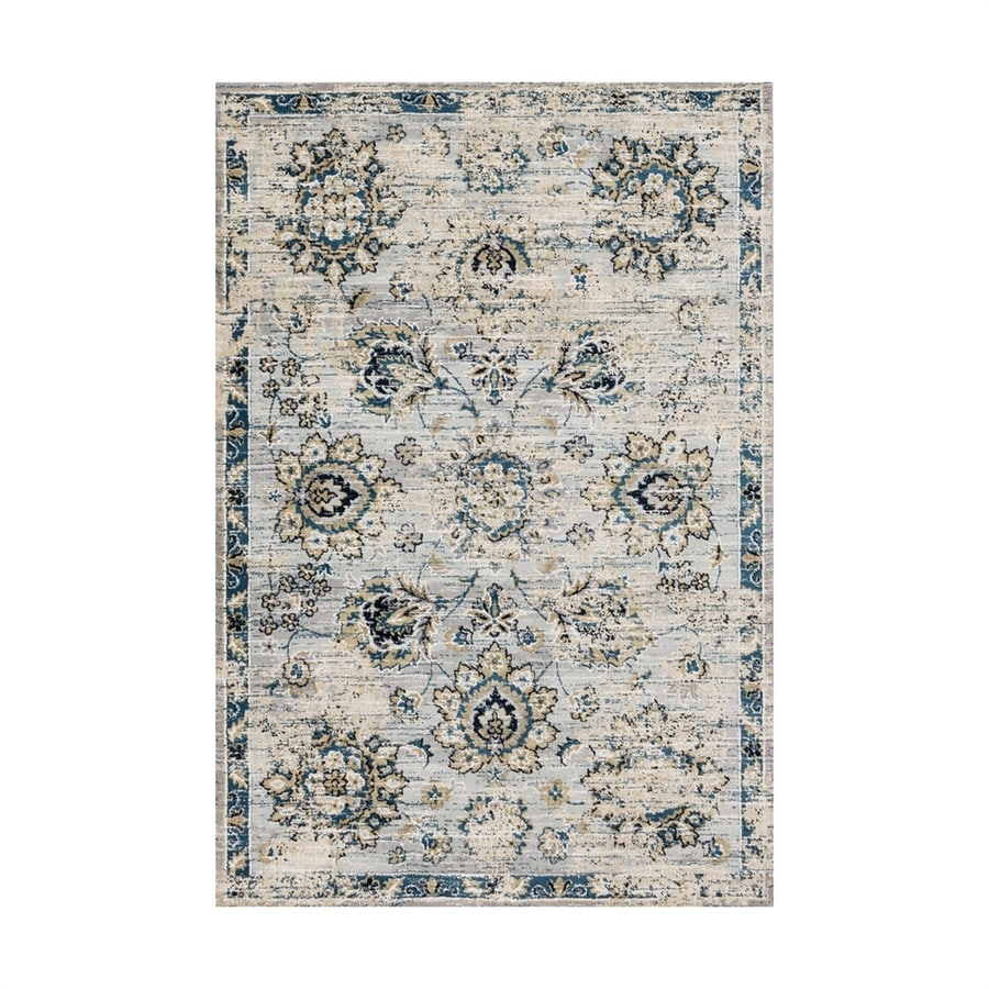 Loloi Torrance Navy/grey Rectangular Indoor Machine-made Distressed Area Rug (Common: 4 X 6; Actual: 3.75-ft W x 5.75-ft L)