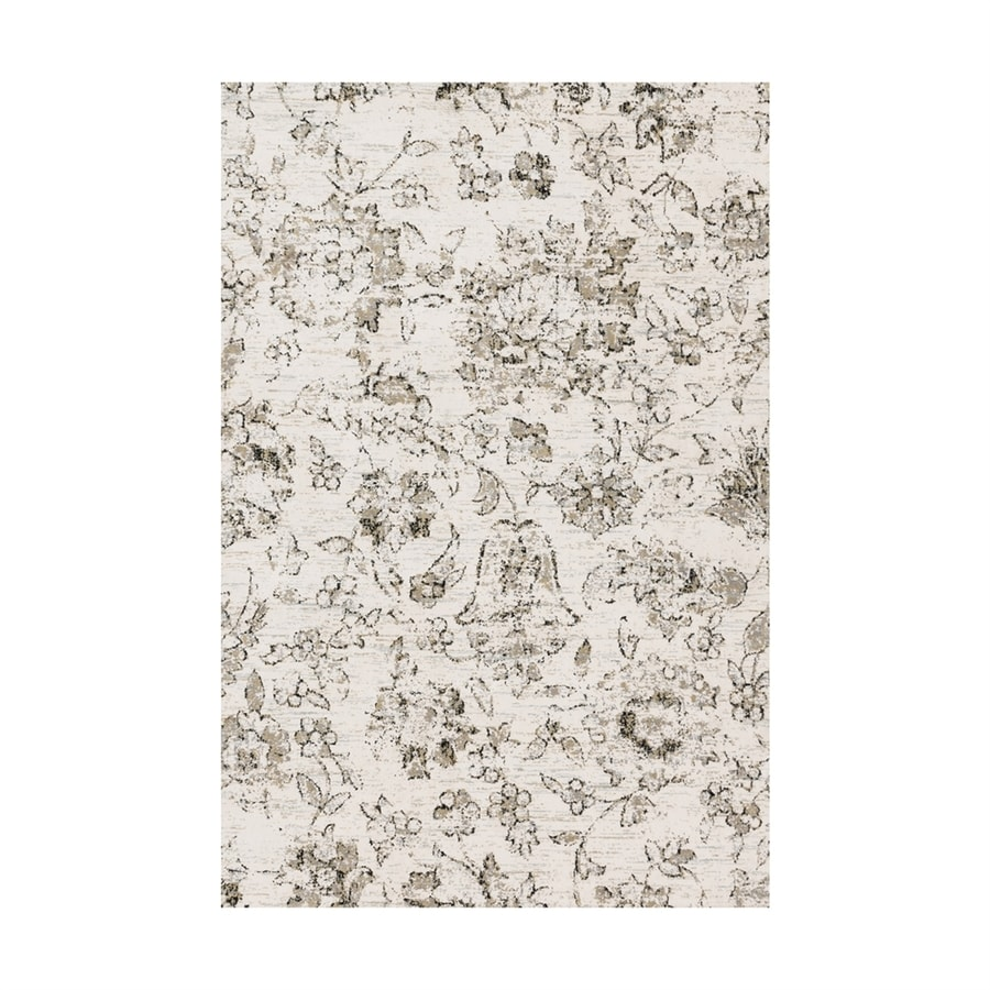Loloi Torrance Ivory Rectangular Indoor Machine-made Distressed Area Rug (Common: 5 X 8; Actual: 5-ft W x 7.5-ft L)