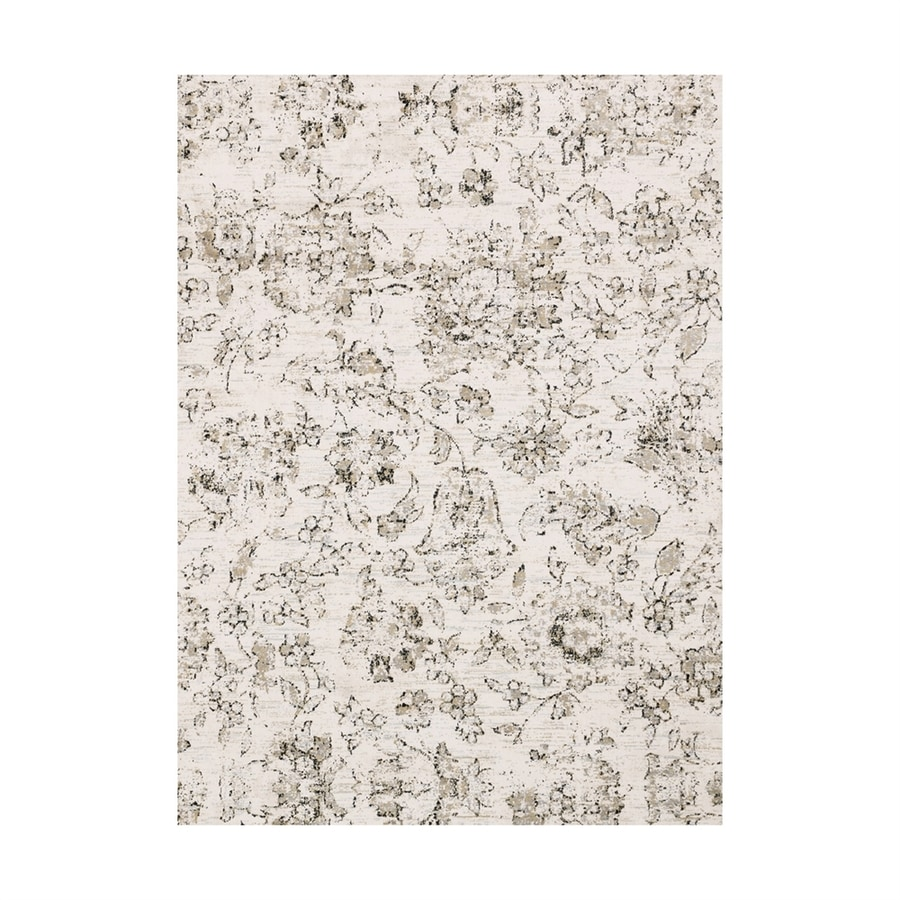 Loloi Torrance Ivory Rectangular Indoor Machine-made Distressed Area Rug (Common: 7 X 9; Actual: 6.58-ft W x 9.16-ft L)