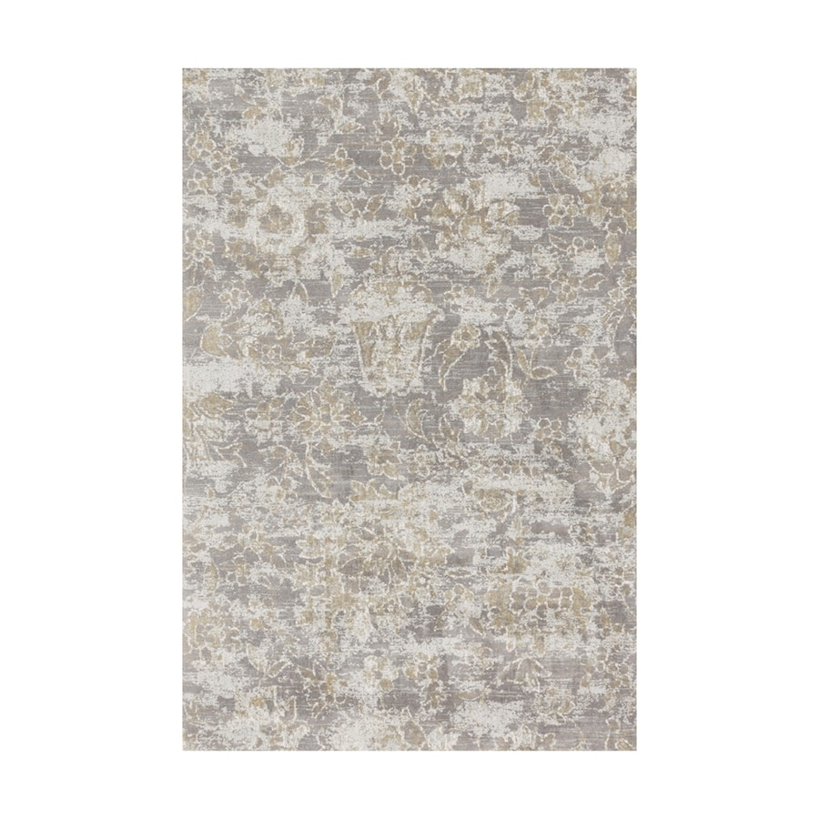 Loloi Torrance Slate Rectangular Indoor Machine-made Distressed Area Rug (Common: 4 X 6; Actual: 3.75-ft W x 5.75-ft L)