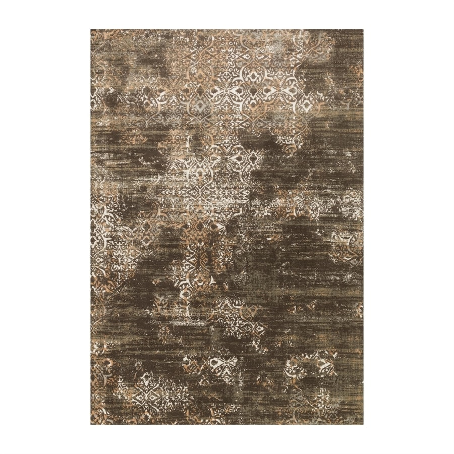 Loloi Kingston Dark taupe Rectangular Indoor Machine-made Distressed Area Rug (Common: 4 X 5; Actual: 3.83-ft W x 5.58-ft L)
