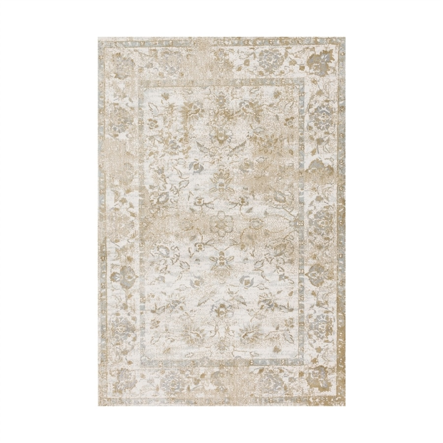 Loloi Torrance Ivory Rectangular Indoor Machine-made Oriental Area Rug (Common: 4 X 6; Actual: 3.75-ft W x 5.75-ft L)