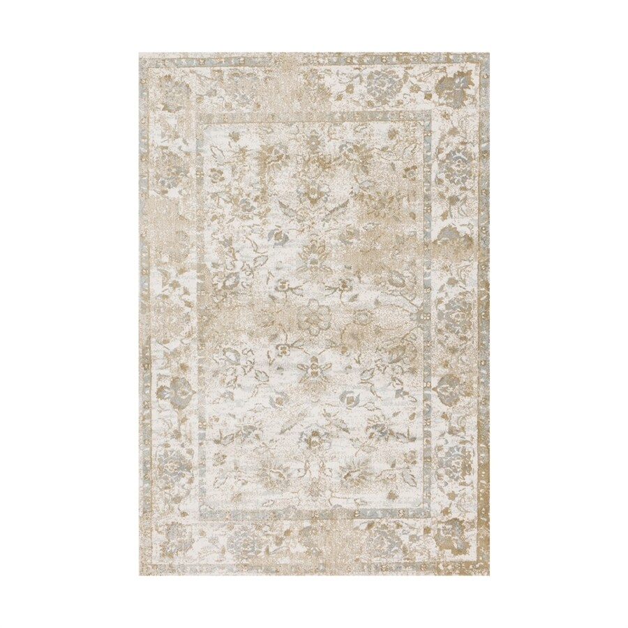 Loloi Torrance Ivory Rectangular Indoor Machine-made Oriental Area Rug (Common: 5 X 8; Actual: 5-ft W x 7.5-ft L)