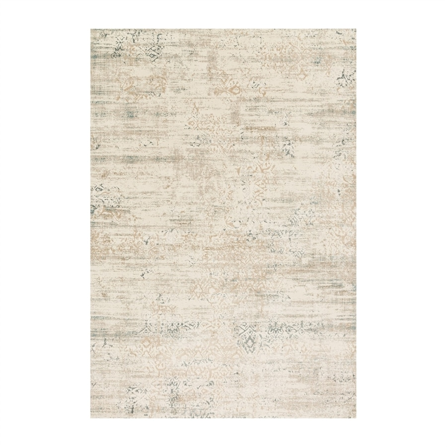 Loloi Kingston Ivory/stone Rectangular Indoor Machine-made Distressed Area Rug (Common: 5 X 7; Actual: 5.25-ft W x 7.5-ft L)