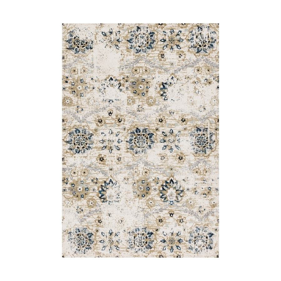 Loloi Torrance Ivory Rectangular Indoor Machine-made Distressed Area Rug (Common: 3 X 4; Actual: 2.58-ft W x 4-ft L)