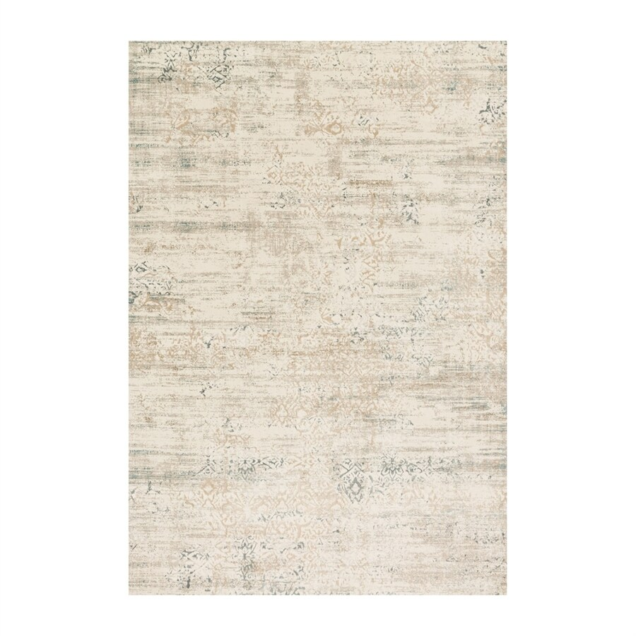 Loloi Kingston Ivory/stone Rectangular Indoor Machine-made Distressed Area Rug (Common: 9 X 13; Actual: 9.25-ft W x 13-ft L)