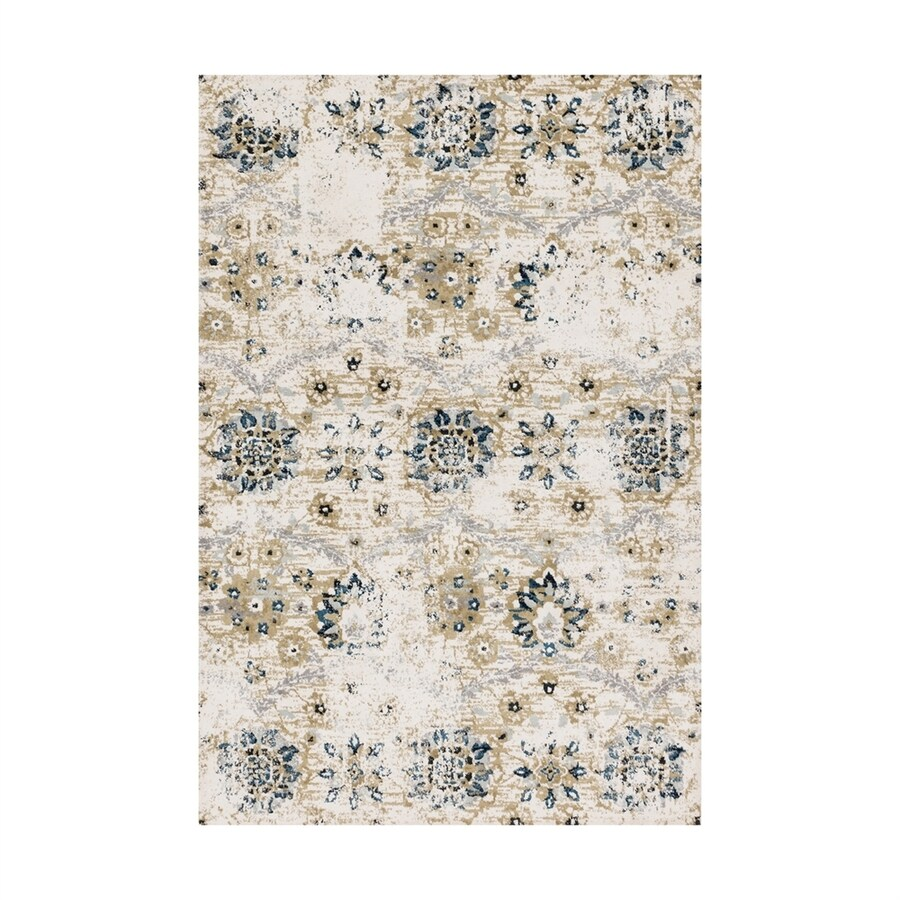 Loloi Torrance Ivory Rectangular Indoor Machine-made Distressed Area Rug (Common: 4 X 6; Actual: 3.75-ft W x 5.75-ft L)