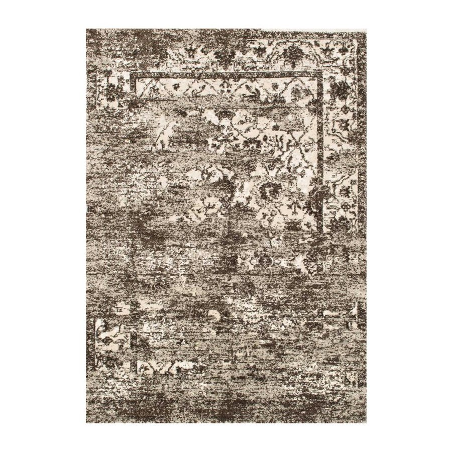 Loloi Viera Mocha/ivory Rectangular Indoor Machine-made Distressed Area Rug (Common: 5 X 8; Actual: 5.25-ft W x 7.58-ft L)