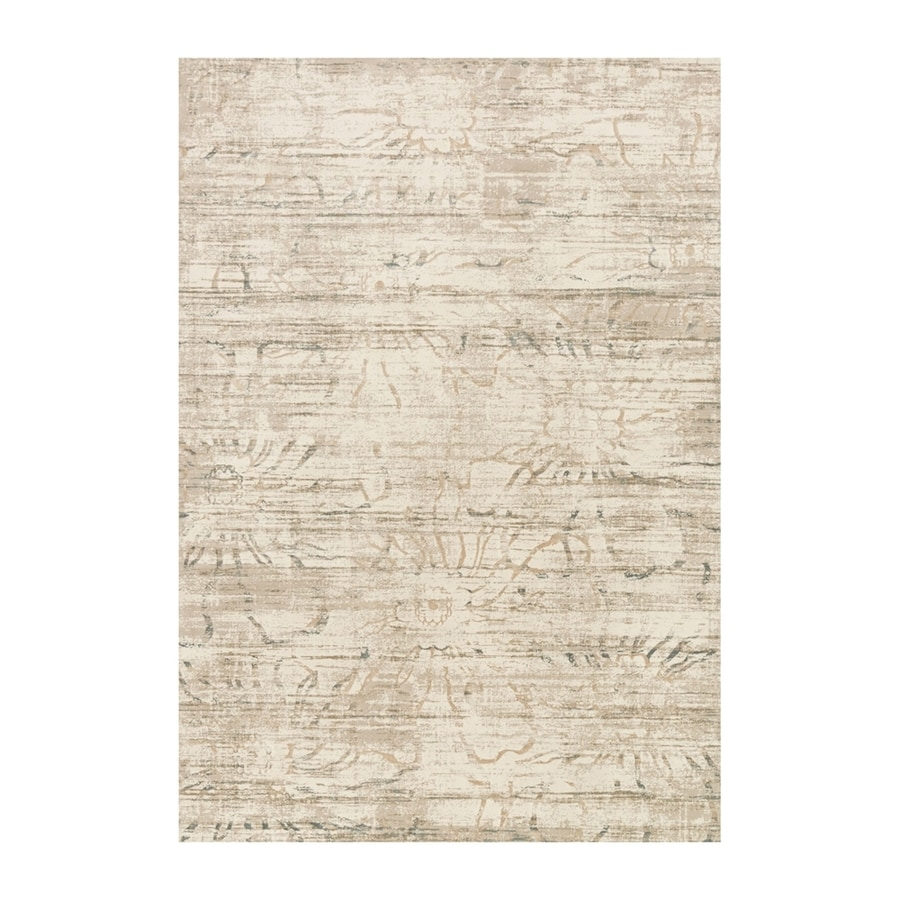 Loloi Kingston Neutral Rectangular Indoor Machine-made Distressed Area Rug (Common: 6 X 9; Actual: 6.58-ft W x 9.16-ft L)